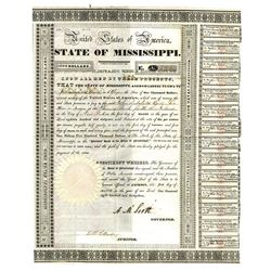 State of Mississippi, 1833 Issued Bond.