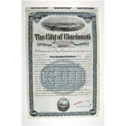City of Cincinnati, 1892 Specimen Bond