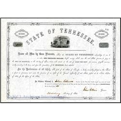 State of Tennessee, 1861 Issued Bond
