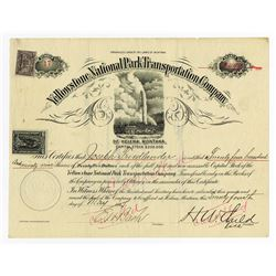 Yellowstone National Park Transportation Co., 1897 Issued Stock