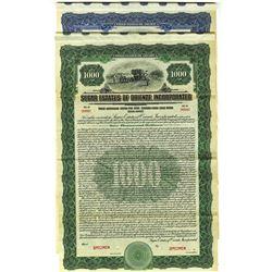Sugar Estates of Oriente, Inc., 1922 Specimen Bond Pair.