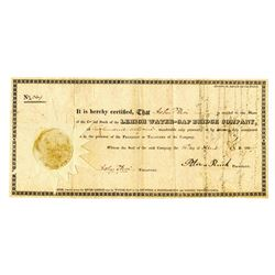 Lehigh Water-Gap Bridge Co., 1829 Issued Stock