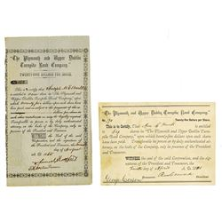 Plymouth and Upper Dublin Road Co., 1865-1878 Issued Stock Pair