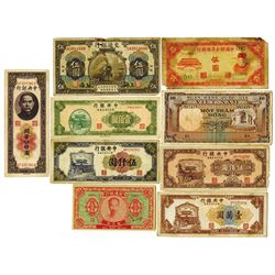 Chinese and Viet Nam Banknote Assortment.