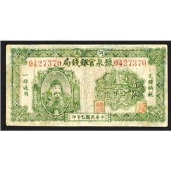 Provincial Bank of Honan, 1918 Issue.