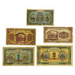 China Banknote Assortment, ca.1915 to 1925.