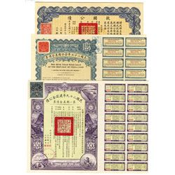 Group of Chinese Bonds ca.1900-1940 Bonds