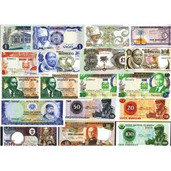 Various African Issuers, 1967-1981 Group of 18 Issued Banknotes