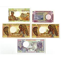 African Banknote Assortment.