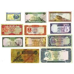 Various Arab Issuers, 1939-1973, 11 Issued Banknotes