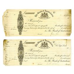 Bank of Australasia Proof CD's ca.1850-60's Proof Receipts & CD's