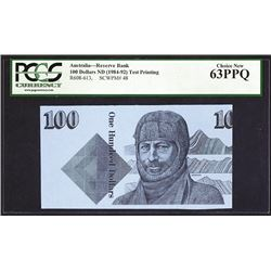 Reserve Bank of Australia, ND (ca.1984-92) Test Note.