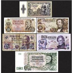 Oesterreichische Nationalbank. 1950s-70s Issues.