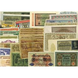 Austria WWII military use issues and German notes.