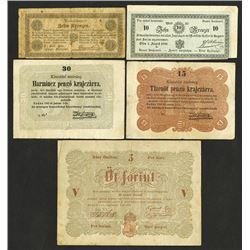 Austrian-Hungarian Empire, 1848-49 Necessity Currency.