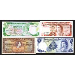 Various British Commonwealth - Caribbean Issuers, 1957-1980, Quartet of Issued Notes