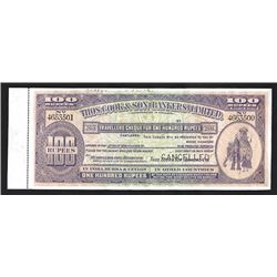 Thos.Cook & Son (Bankers) Limited, 1926 Specimen Traveler's Check.