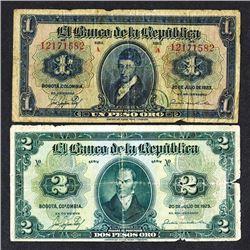 Banco de la Republica. 1923 Issue.