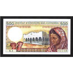 Institut d'Emission des Comores, 1976 Issue Banknote