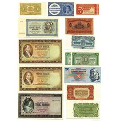 Republika Ceskoslovenska, 1919-70, Group of 15 Issued Notes