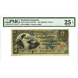Banco De La Compania De Credito De Puerto Plata, 1886 Issued Banknote Rarity.