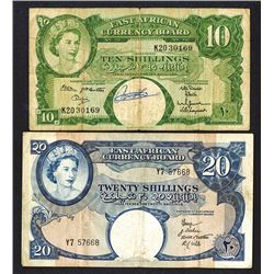 East African Currency Board. 1958-61 ND Issue.