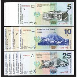 Banco Central de Reserva de el Salvador. 1997-98 Issues.