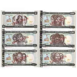 "Bank of Eritrea, New Eritrean Currency ""Nakfa"" Specimen Book."
