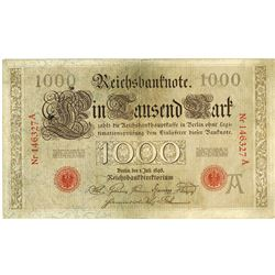 Reichsbanknote, Imperial Bank Note, 1898 Issue.