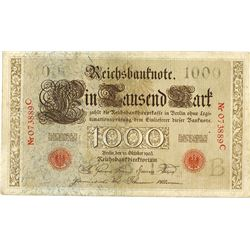 Reichsbanknote, Imperial Bank Note, 1903 Issue.