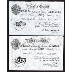 Bank of England, WWII era Operation Bernhard White Notes.