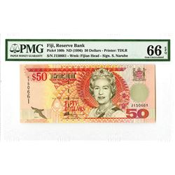 Reserve Bank of Fiji, ND (1996) Issued Banknote.