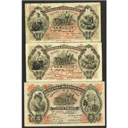 Banco Agricola Hipotecario. 1900-20 Issues.