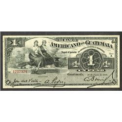 Banco Americano de Guatemala. 1918 Issue.
