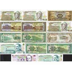 Banco Central De Guatemala & Banco De Guatemala Banknote Assortment.
