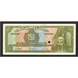 Banque Nationale de la Republique d'Haiti, L. 1919 Specimen 250 Gourdes