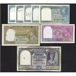 Government of India; Reserve Bank of India issues Lot of 8 King George VI Issues.