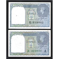 Reserve Bank of India, 1940 Issue Pair.