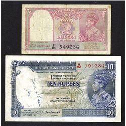 Reserve Bank of India. George VI issues.