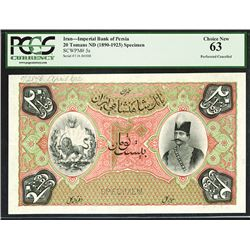 Imperial Bank of Persia, ND (1912) Specimen Banknote