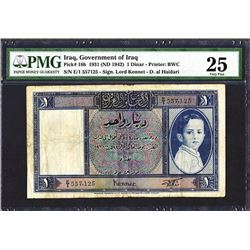 Government of Iraq, Law #44 of 1931 (ND 1942 Issue), Banknote.