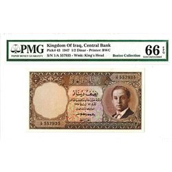 Central Bank of Iraq, L. 1947 High-grade Issue Banknote.