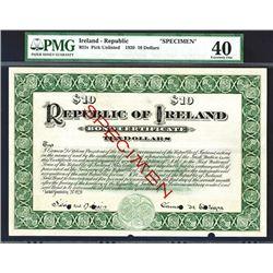 Republic of Ireland, 1920 Specimen Circulating Bond.