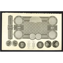 Banca Nazionale, ND ca.1860-70's Compound Progress Proof.