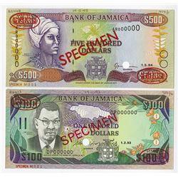 Bank of Jamaica. 1993-94 Specimen Notes.