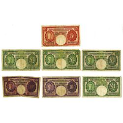 Government of Jamaica, 1955 Banknote Assortment.