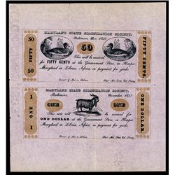 Maryland State Colonization Society, 1837. Reprints of 1883.