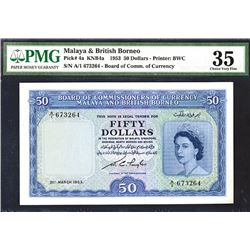 Board of Commissioners of Currency, Malaya & British Borneo, 1953 Issue Banknote.
