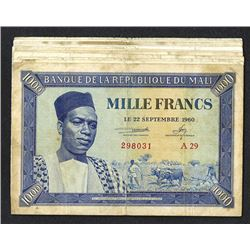 Banque de la Republique du Mali. 1960 dated issue.