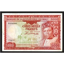 Banque de la Republique du Mali. Second 1960 dated issue.